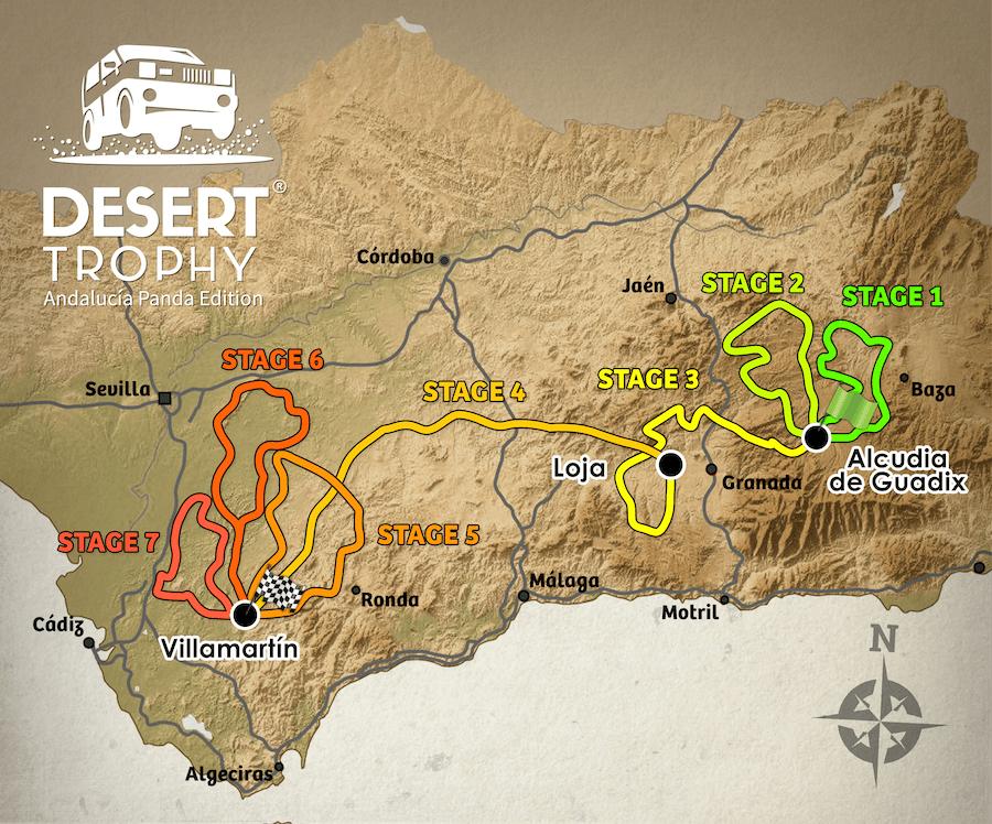 RECORRIDO DESERT TROPHY PANDA ANDALUCÍA EDITION